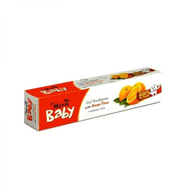 Meril Baby Gel Toothpaste Orange 45gm